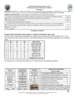 Unidad Lógica Aritmética (ALU siglas en inglés de arithmetic logic