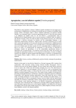 Apropiación y uso del alfabeto español
