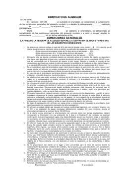 CONTRATO DE ALQUILER CONDICIONES GENERALES