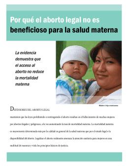 Por qué el aborto legal no es beneficioso para la salud materna