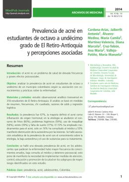 Prevalencia de acné en estudiantes de octavo a undécimo grado de