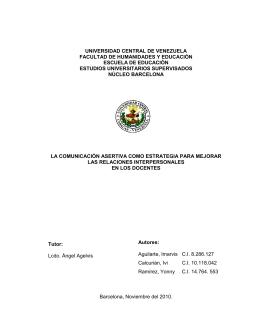 1 UNIVERSIDAD CENTRAL DE VENEZUELA