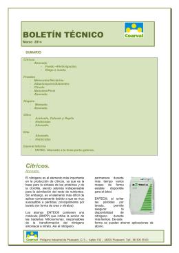 Boletín Técnico - marzo 2014