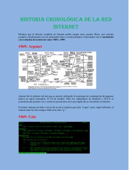 historia cronologica de la internet