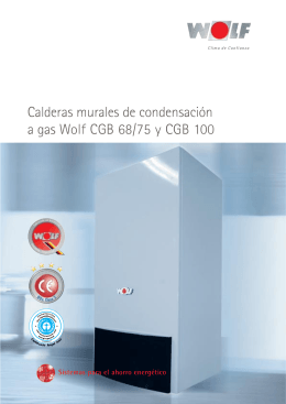 Calderas murales de condensación a gas Wolf CGB 68/75 y CGB 100
