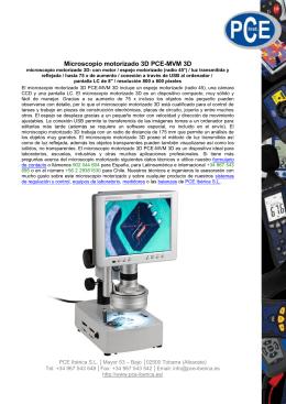 Microscopio motorizado 3D PCE-MVM 3D