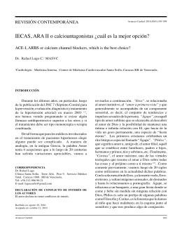IECAS, ARA II o calcioantagonistas ¿cuál es la mejor opción?. Dr
