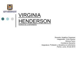 VIRGINIA HENDERSON - Enfermería UTA – Iquique