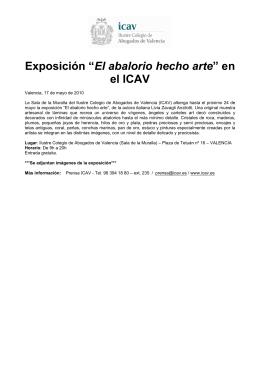 """Exposición """"El abalorio hecho arte"""" en el ICAV"""