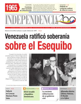 Venezuela ratificó soberanía - Independencia 200