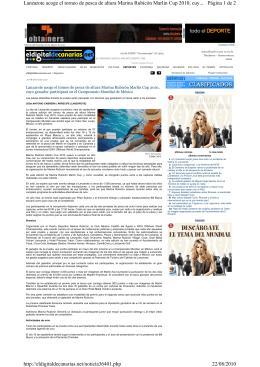 Página 1 de 2 Lanzarote acoge el torneo de pesca de altura Marina