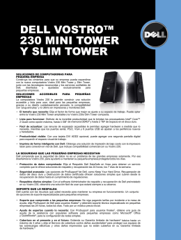 DELL VOSTRO™ 230 MINI TOWER Y SLIM TOWER
