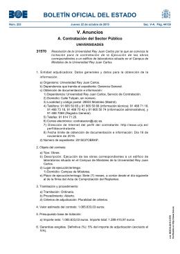 Resolución de la Universidad Rey Juan Carlos por la que