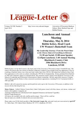 April 2014  - The University League