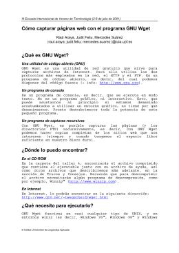¿Qué es GNU Wget?