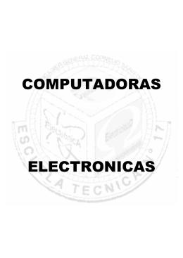 Teoría de Computadoras Electrónicas