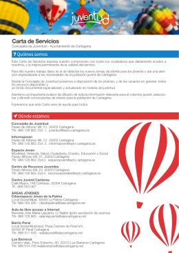 Carta de Servicios - Concejalía de Juventud