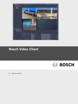 Bosch Video Client - Bosch Security Systems