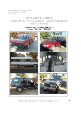 """VENTA DE VEHÍCULOS """"Minibús IVECO (17 a 22 asientos"""