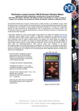Vibrómetro cuerpo humano VM-30 (Human Vibration Meter)