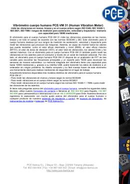 Vibrómetro cuerpo humano PCE-VM 31 (Human Vibration Meter)