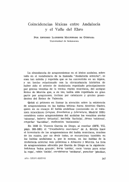 18. Coincidencias léxicas entre Andalucía y el Valle del Ebro, por