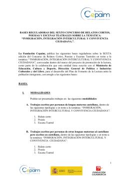 BASES REGULADORAS DEL SEGUNDO CONCURSO DE