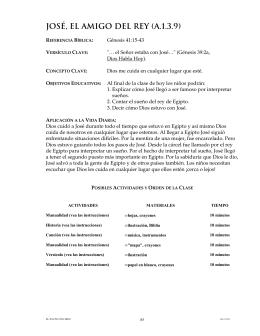 JOSÉ, EL AMIGO DEL REY (A.1.3.9)