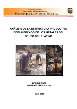 ANÁLISIS DE LA ESTRUCTURA PRODUCTIVA Y DEL