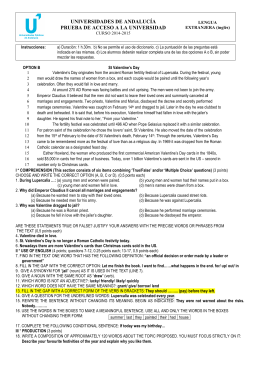 Examen modelo 2015 Opcion