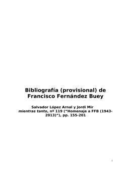 Bibliografía (provisional