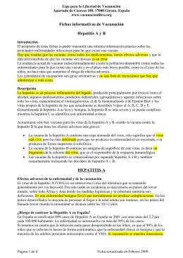 Hepatitis A y B - LA LIGA - para la libertad de vacunación