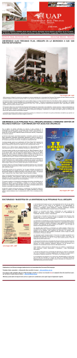 universidad alas peruanas filial arequipa da la bienvenida a sus