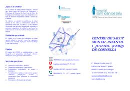 CENTRE DE SALUT MENTAL INFANTIL I JUVENIL (CSMIJ) DE