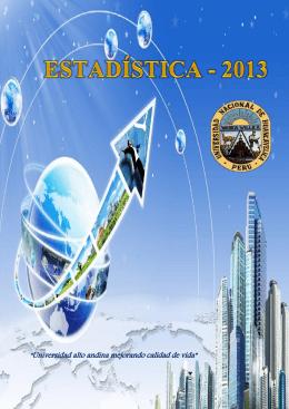 boletín estadístico 2013 - Universidad Nacional de Huancavelica