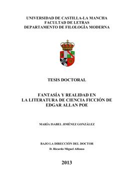 tesis doctoral fantasía y realidad en la literatura de ciencia