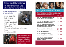Signs and Symptoms of Tuberculosis (TB)