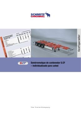 Semirremolque de contenedor S.CF – individualizado para usted C