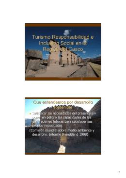 Turismo Responsabilidad e Inclusión Social en la Región del Cusco