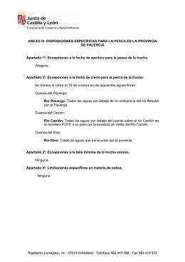 """Anexo Palencia 2015 - Asociación de Pescadores """"Alto Río Sil"""""""