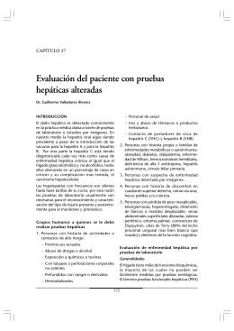 Evaluación del paciente con pruebas hepáticas alteradas