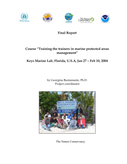ToT 2002 Report - CaMPAM - Gulf and Caribbean Fisheries Institute