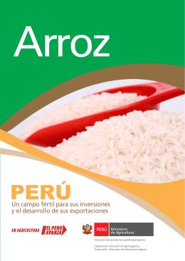 Arroz - Ministerio de Agricultura