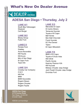 What`s New On Dealer Avenue