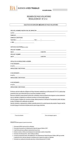 Formulario de Pago Voluntario - Ministerio de Trabajo de la