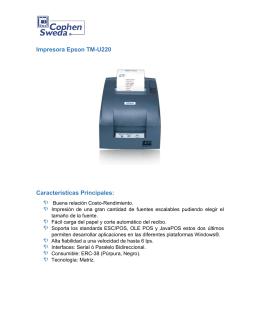 Impresora Epson TM-U220 Características Principales: