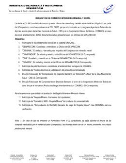 MINISTERIO DE MINERIA Y METALURGIA SENARECOM