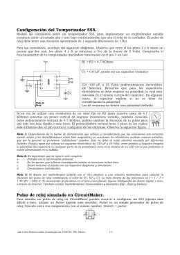 Configuración del temporizador 555