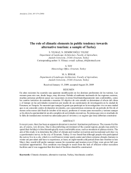 The role of climatic elements in public tendency towards - E