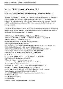 Mexico Civilizaciones y Culturas pdf